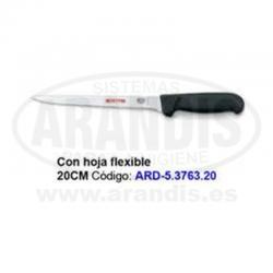 Cuchillo 20 cm con hoja flexible para deshuesar