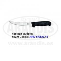 Cuchillo para deshuesar 15cm con alvéolos