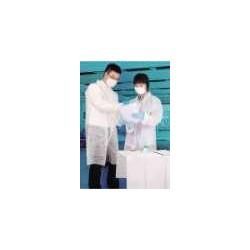Caja 50 unidades:Bata Polietileno Blanco Cierre Velcro