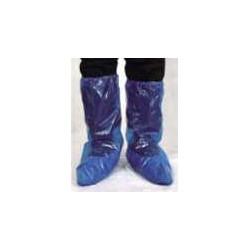 Caja 500 unidades:Polo Cubre Botas Polietileno Azul