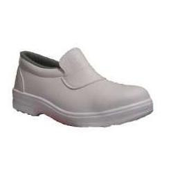 Zapato blanco Daisy con puntera de seguridad