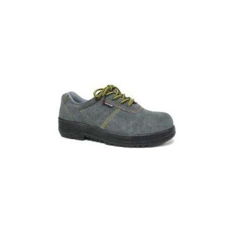 Zapato de seguridad serraje perforado