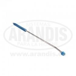 Lanza de agua de 750 mm boquilla 25/40 acero inoxidable protector azul