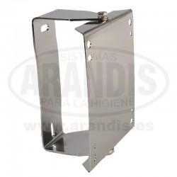 Soporte de pared giratorio en acero inoxidable para carrete de manguera