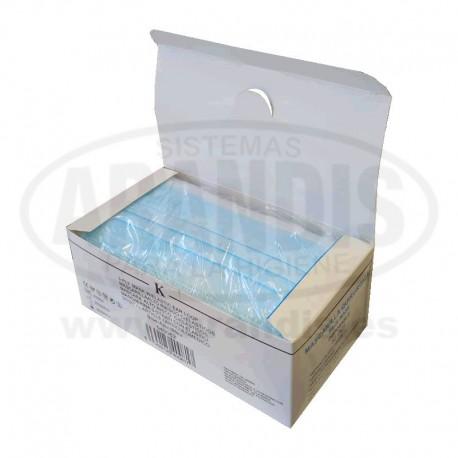 Mascarillas quirurjicas caja de 50 unidades